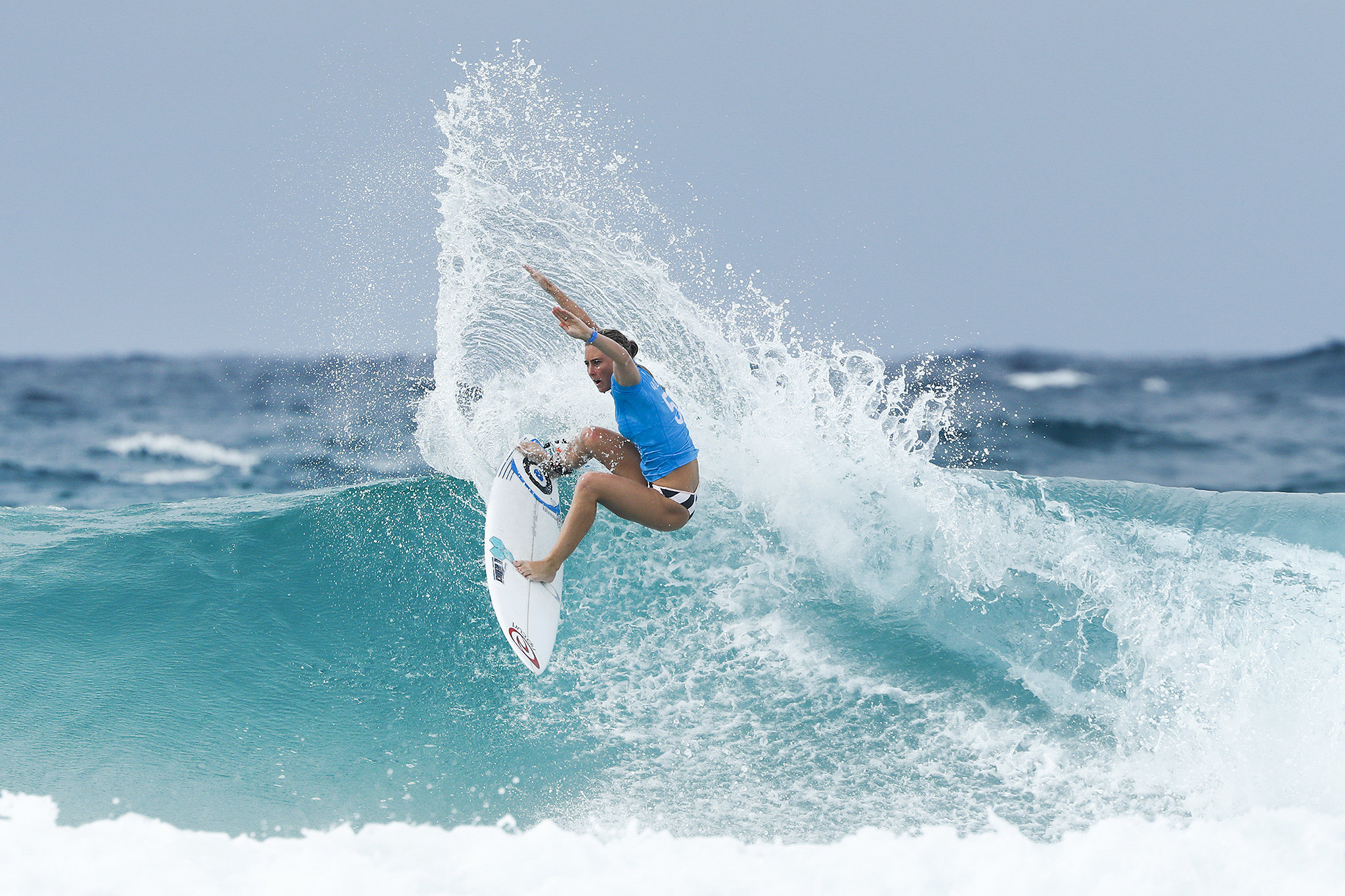 Nikki Van Dijk of Australia winning Heat 3 of Round One at the Roxy Pro Gold Coast, Australia.