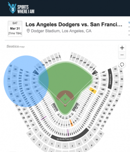 Where to sit at Dodger Stadium