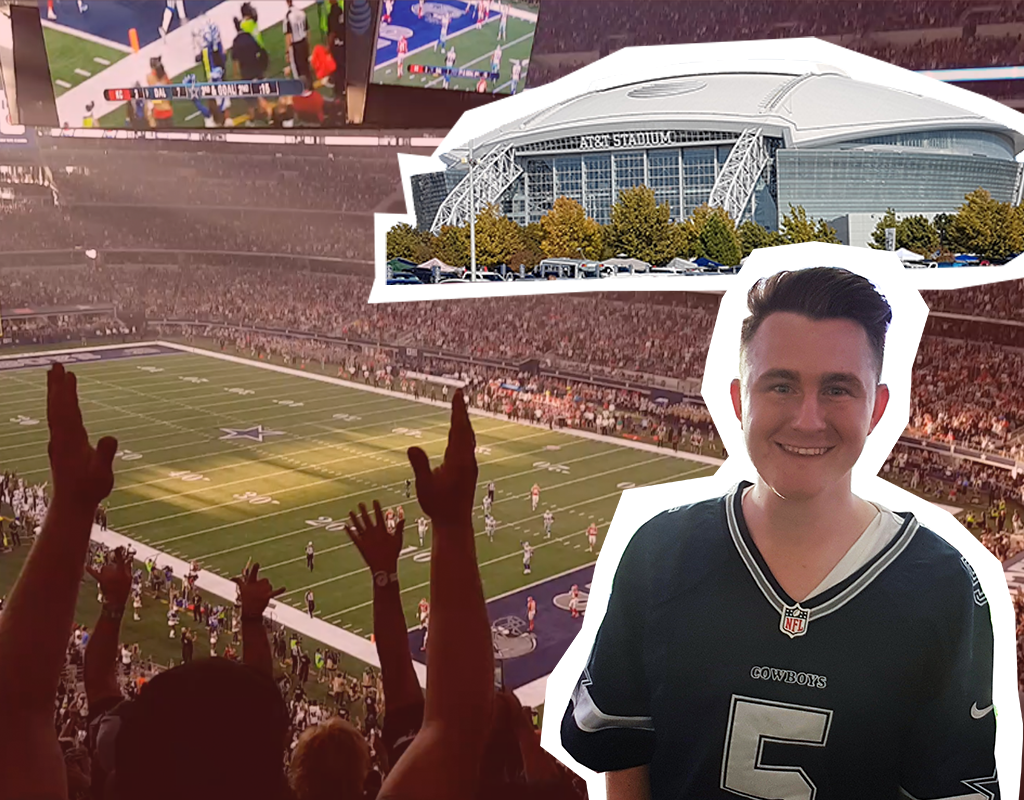 AT&T Stadium, home of the Dallas Cowboys, is a work of genius