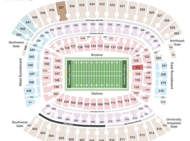 Where to sit at FirstEnergy Stadium Cleveland Browns